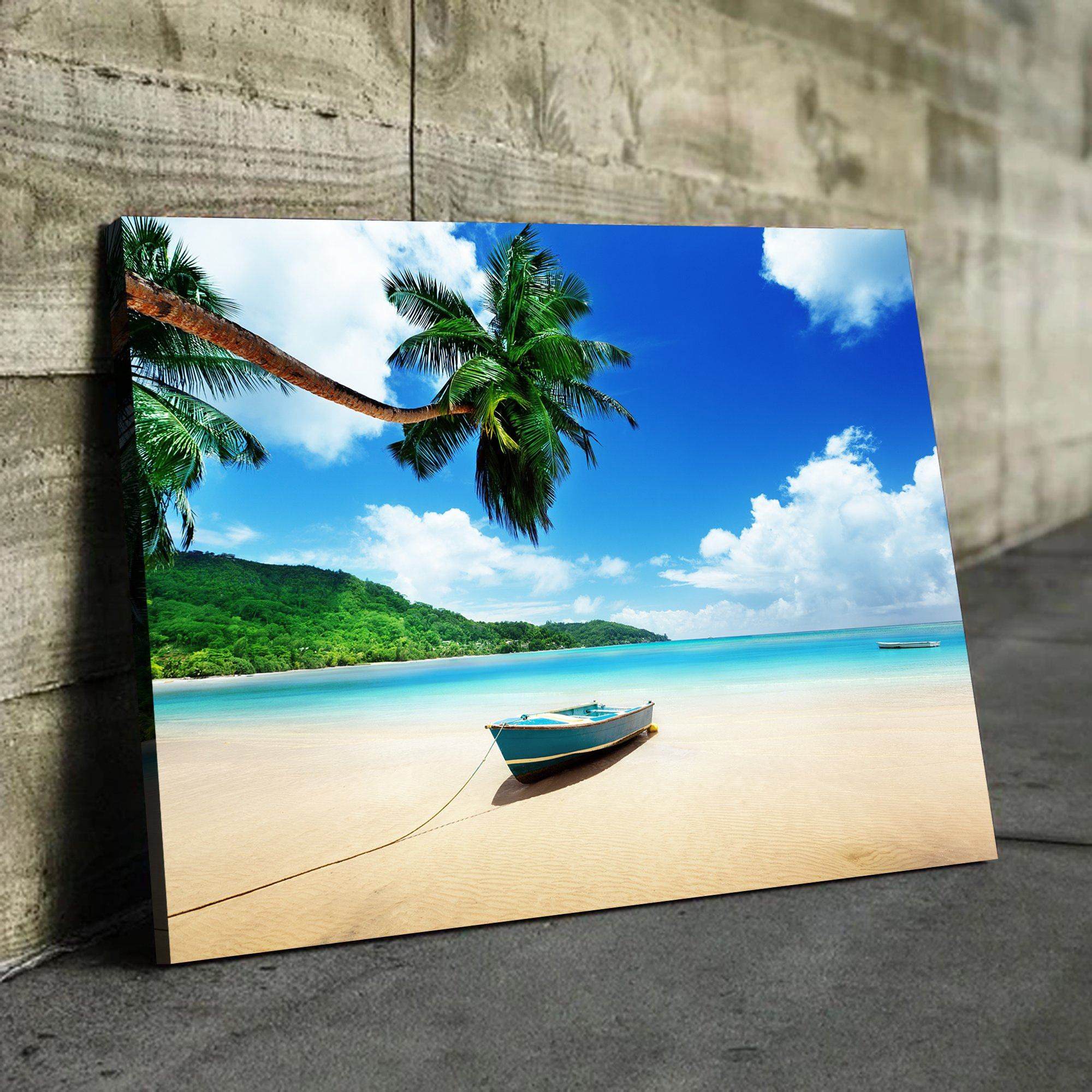 Boat on Island wall art