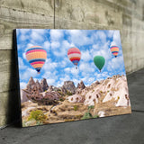 Hot air balloon living room wall art