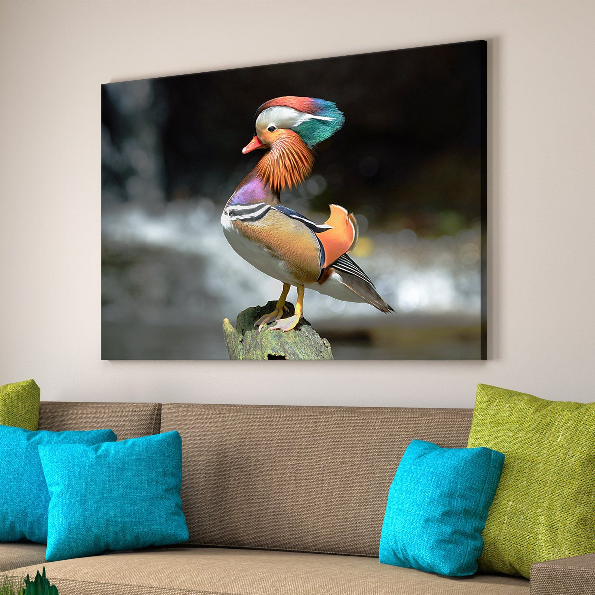 Mandarin Duck living room wall art