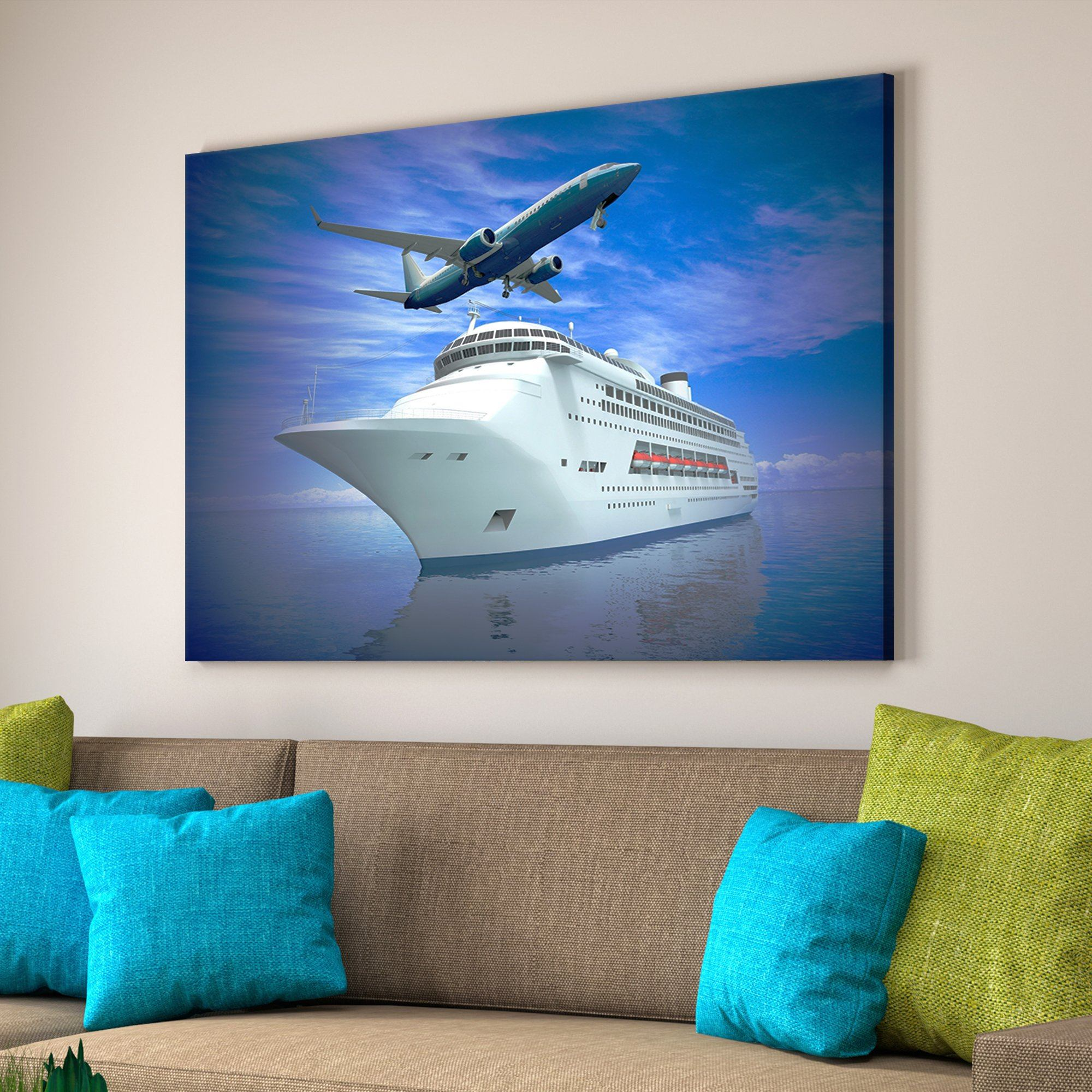 cruise ship vacation wall art