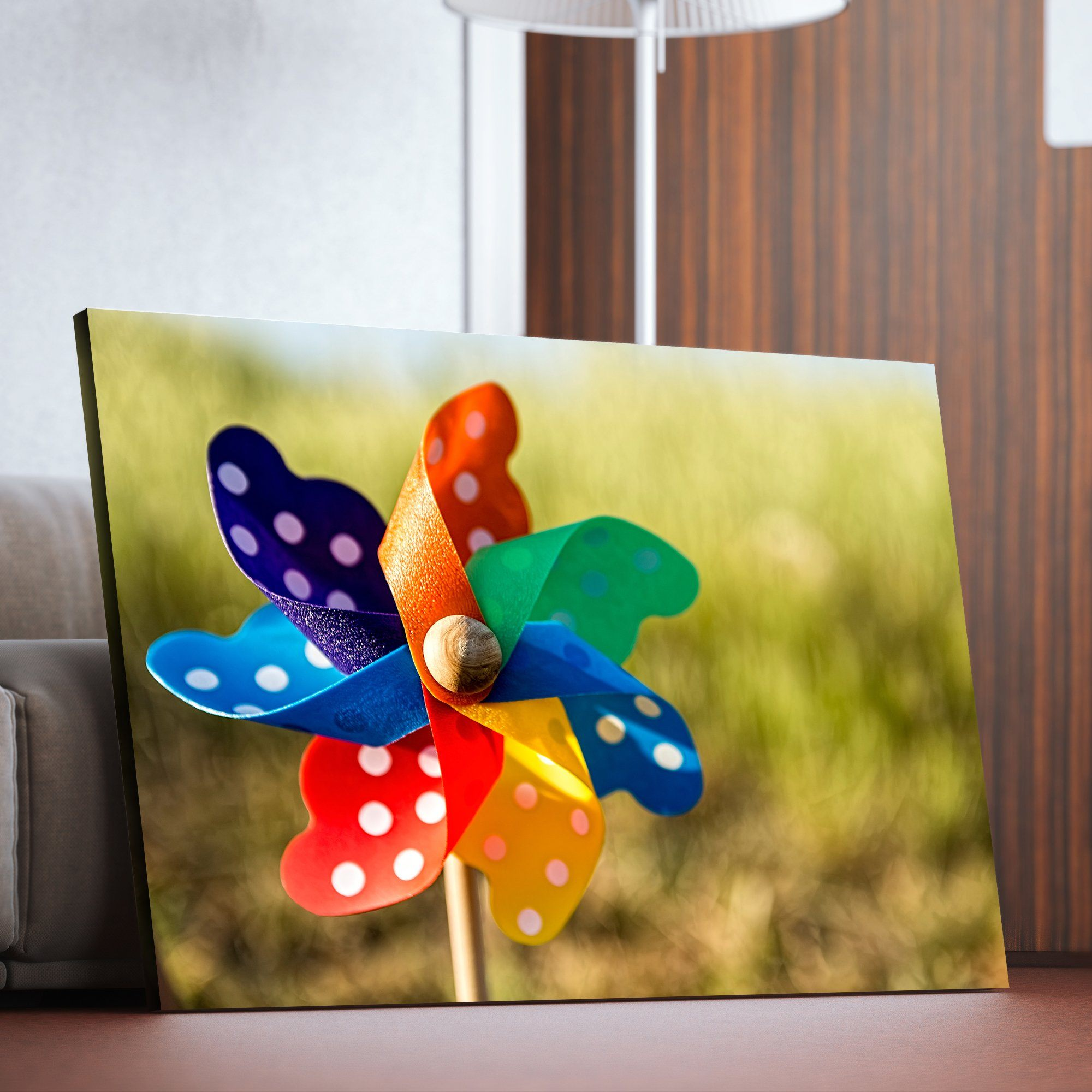 Pinwheel wall art