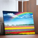 Rainbow Over Tulips living room wall art