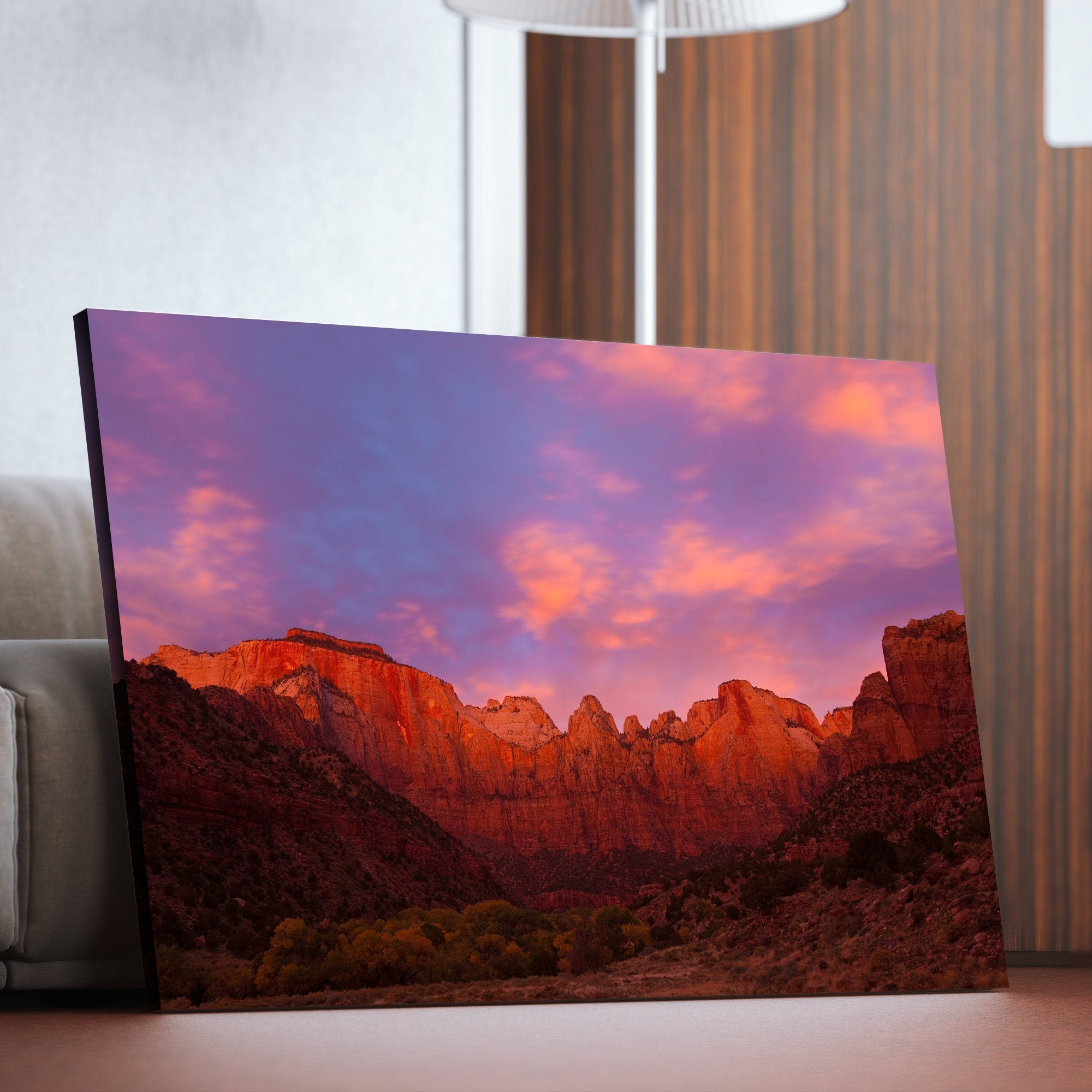 Towers of Virgin - Zion Canyon National Park living room wall art