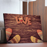 Socks for Love living room wall art
