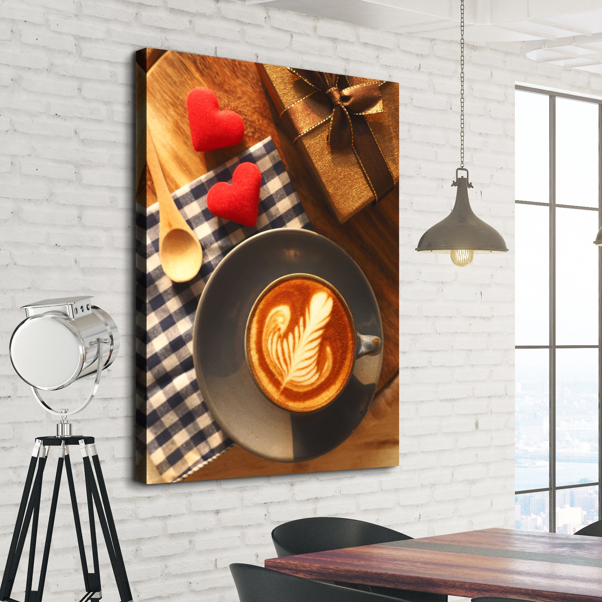 Hearts and Coffee living room wall art