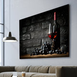 red wine lover wall art