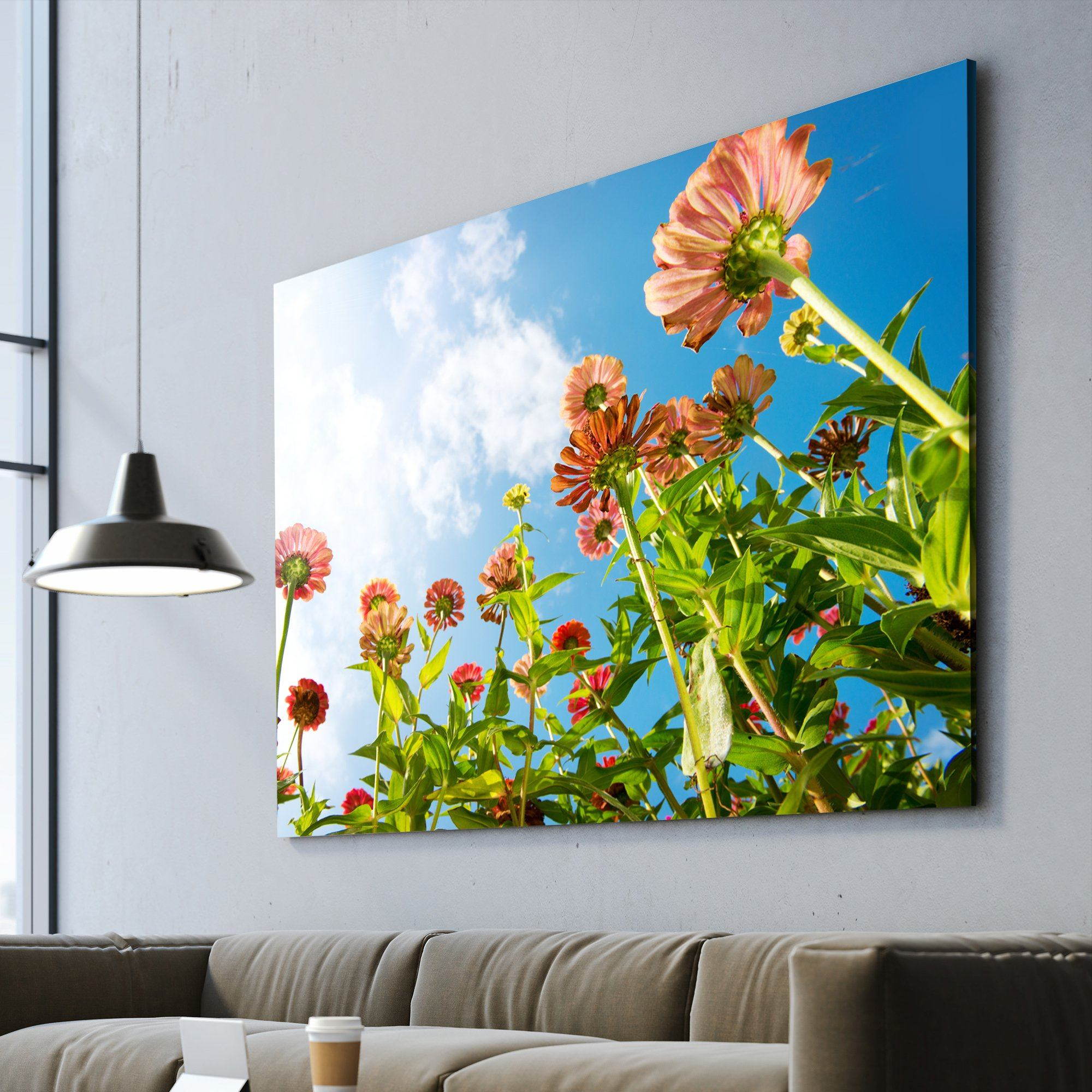 Flowers wall art black frame