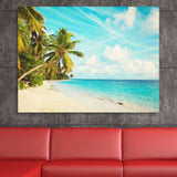 Sandy Beach and Palm Trees wall art