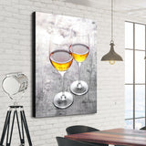 champagne wall art