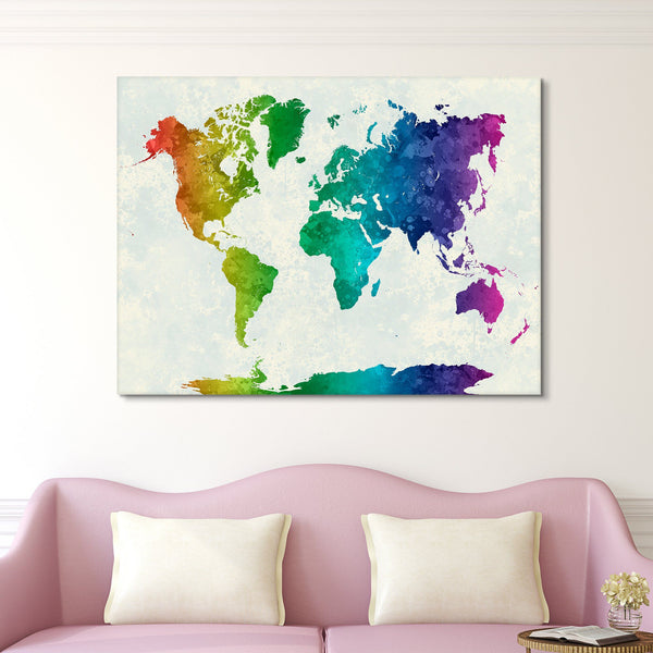 map of colors wall art