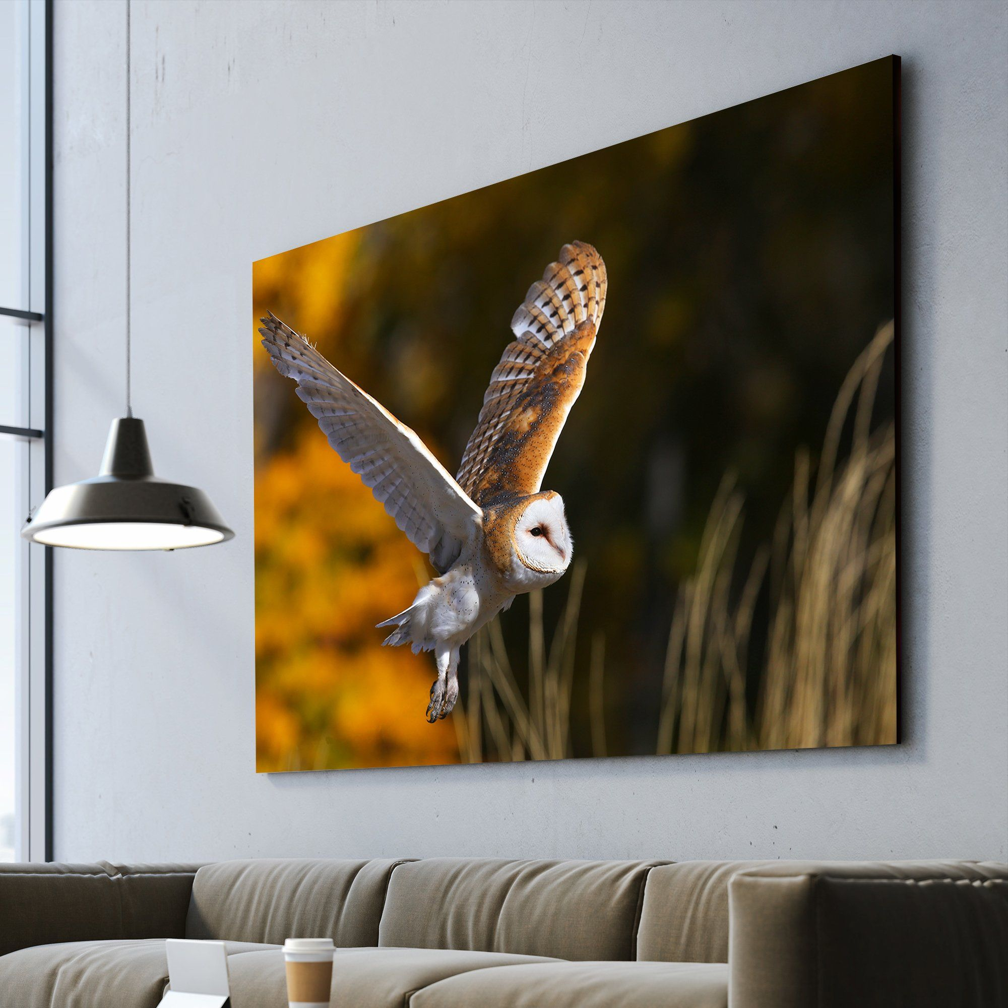 owl wall art for living room