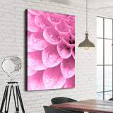 Water Drops on flower Petals wall art