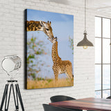 Giraffe love wall art