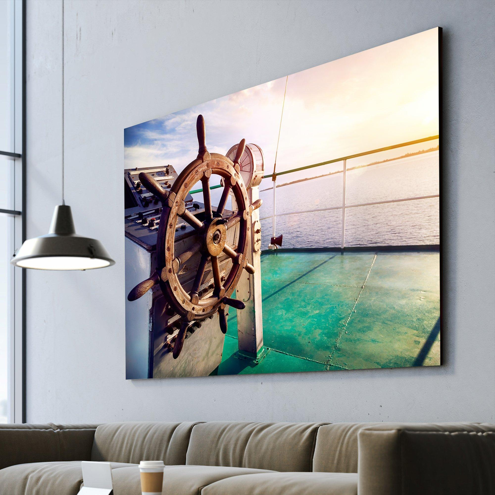 Issyk Kul Lake cruise ship wall art