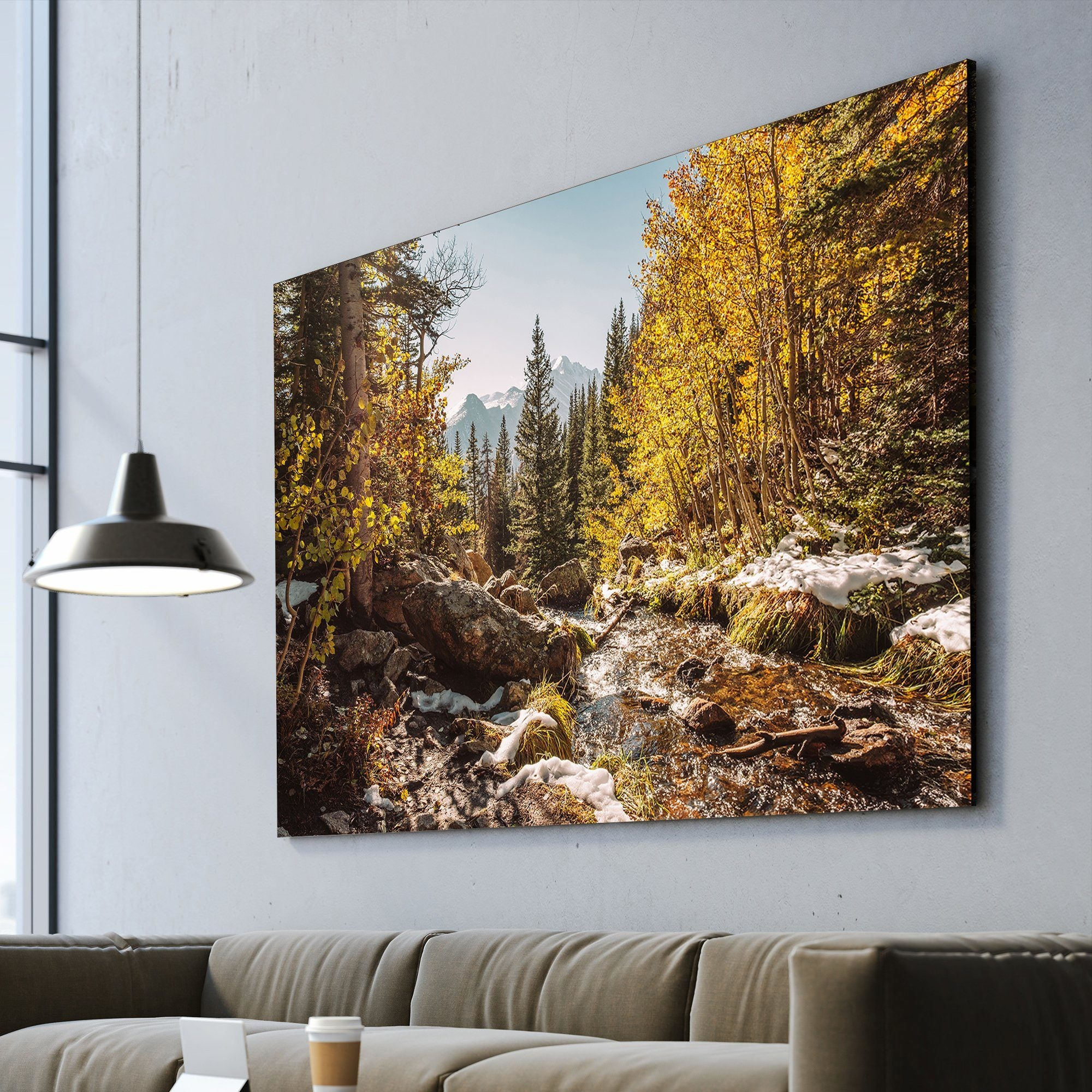 Rocky Mountain living room wall art