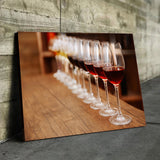 glasses of wine art