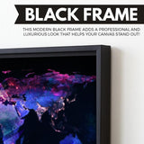 Ethereum Black Marble Series wall art black frame