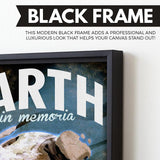 Earth - Futuristic Planet Series wall art black frame