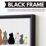 Look Up wall art black floating frame