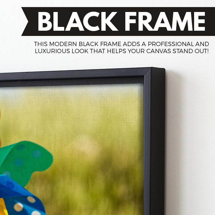 Pinwheel wall art black floating frame