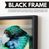Aviary wall art black floating frame
