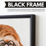 Cocker Spaniel wall art black floating frame