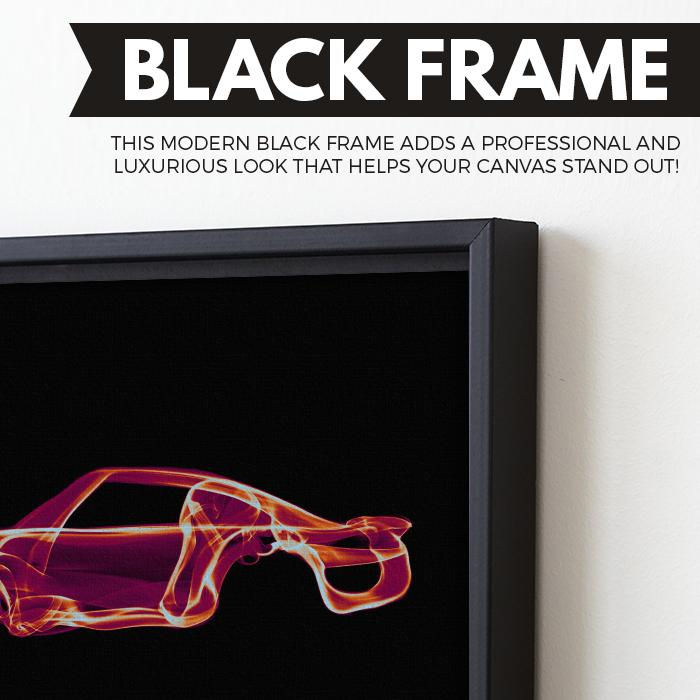 Porsche 959 wall art black frame