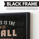 The Sum of Small Efforts wall art black frame