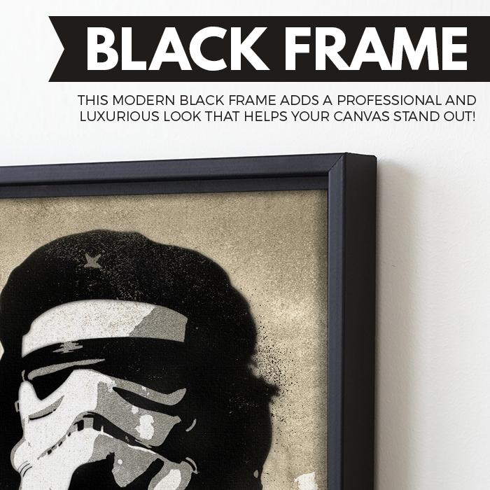 Che Trooper wall art black frame