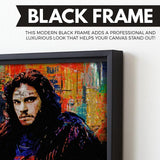 Jon Snow wall art black frame