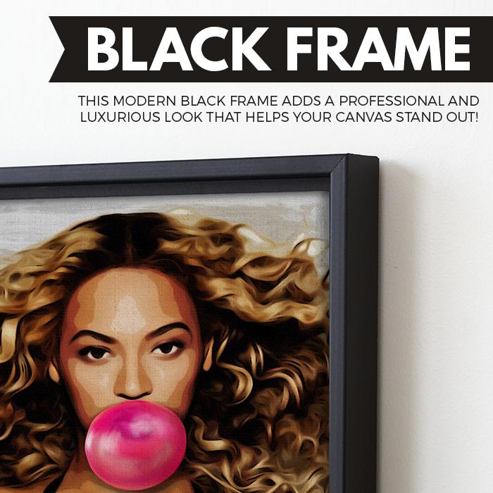 Beyonce Bubblegum wall art black frame