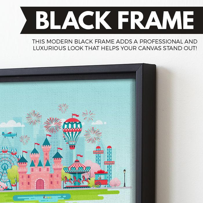 Dream Castle wall art black floating frame