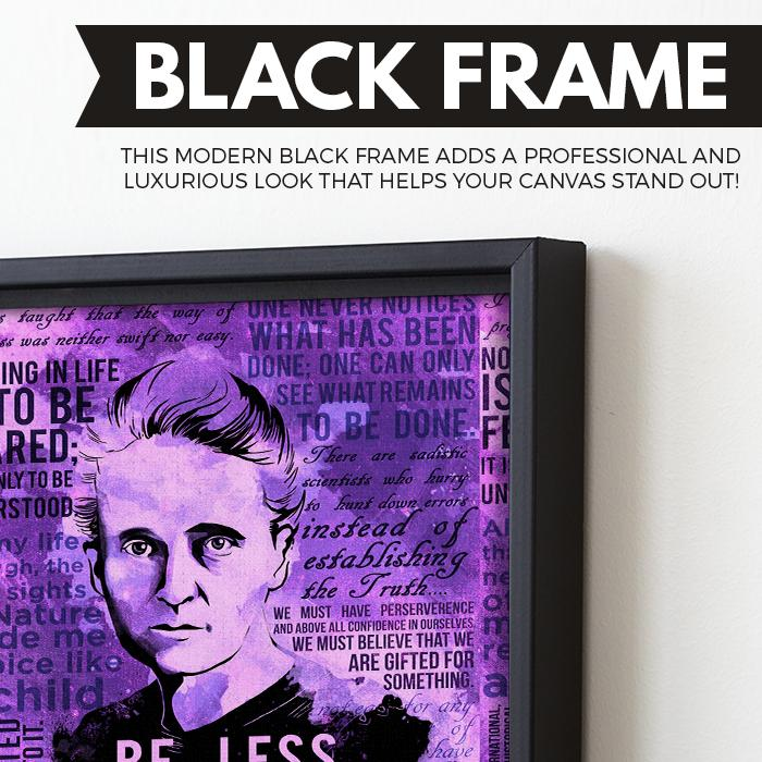 Marie Curie wall art black frame