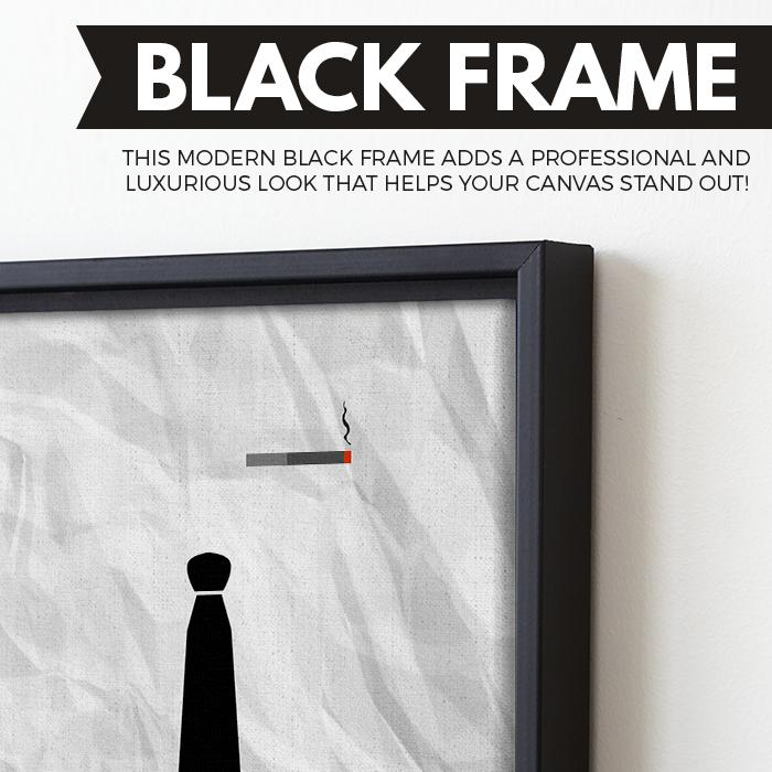 Mad Men wall art black frame