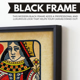 The Queen wall art black frame