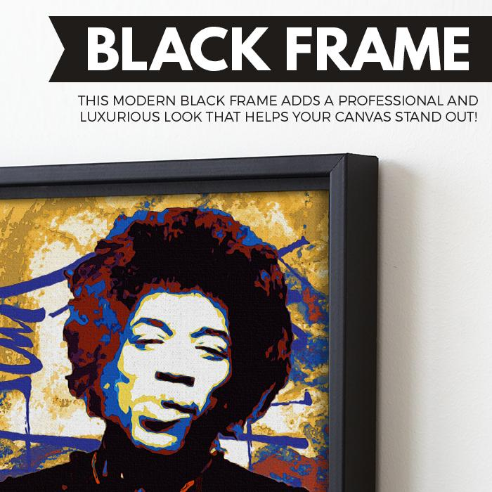 Jimi Hendrix wall art black frame