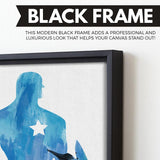 The First Avenger wall art black frame