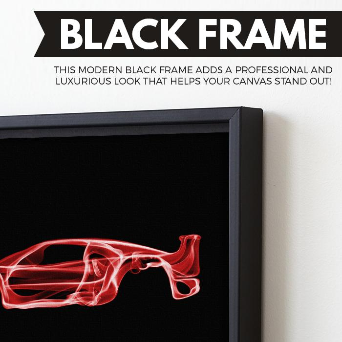 Ferrari F40 wall art black frame