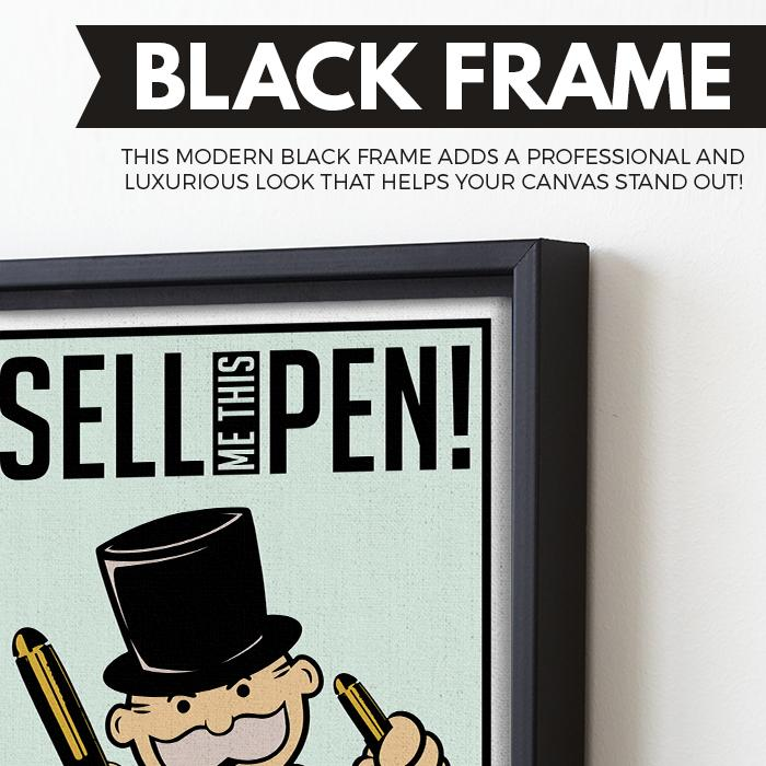 Sell Me This Pen wall art black frame