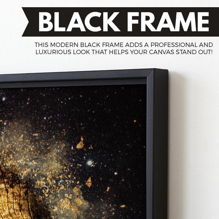 Moonsplosion wall art black frame