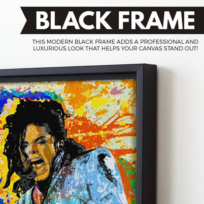 King of Pop wall art black frame