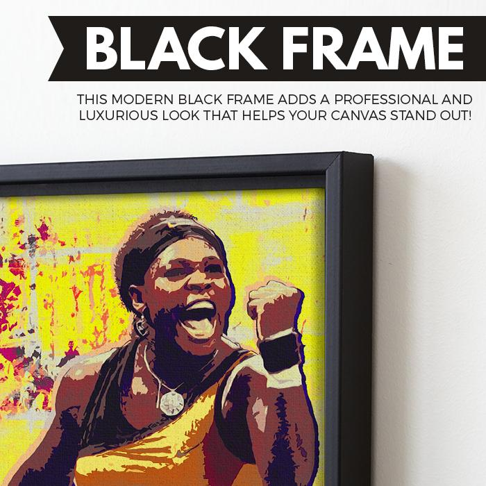 Serena Williams wall art black frame