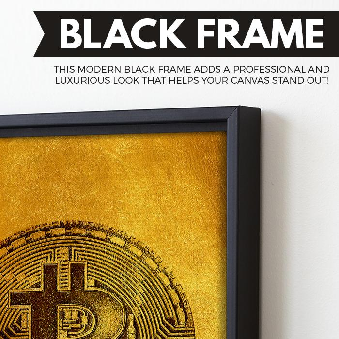 Bitcoin Fever wall art black frame