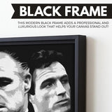 The Godfather wall art black frame