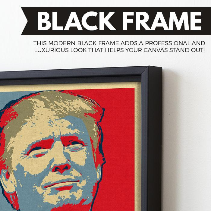 Covfefe wall art black frame