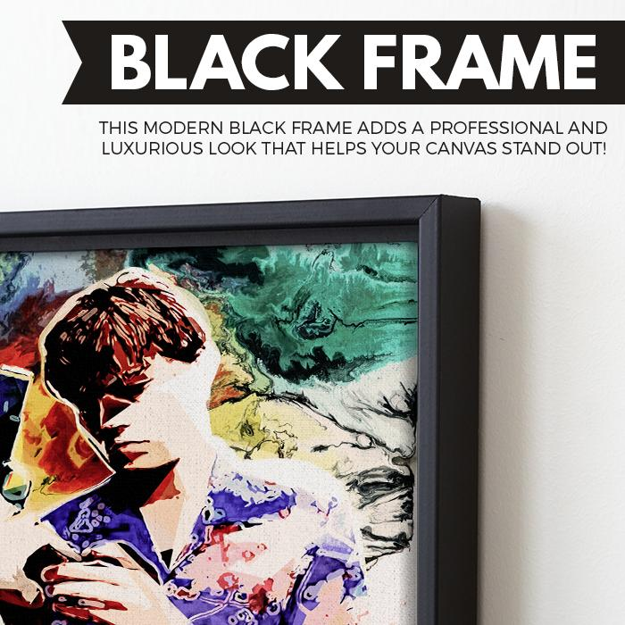 Love at first sight wall art black frame