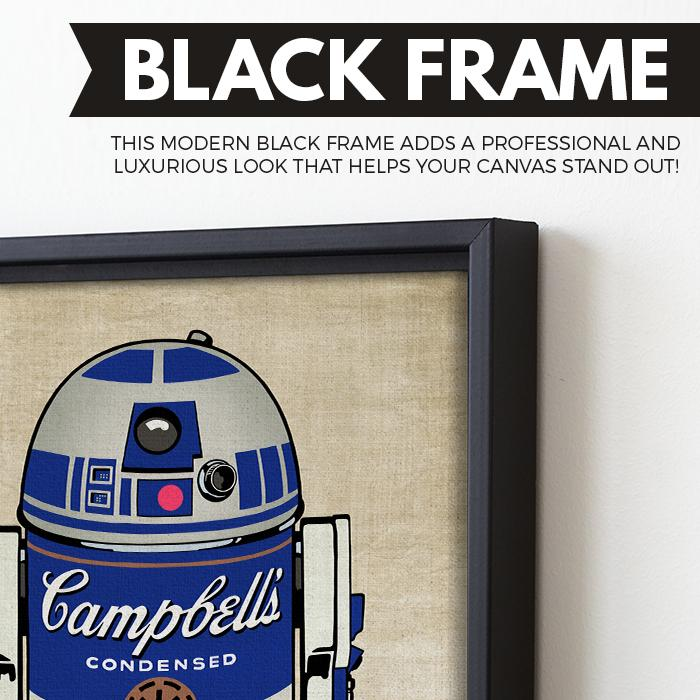 Campbell's R2D2 Droid Soup wall art black frame