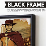 The Good, The Bad And The Ugly wall art black frame