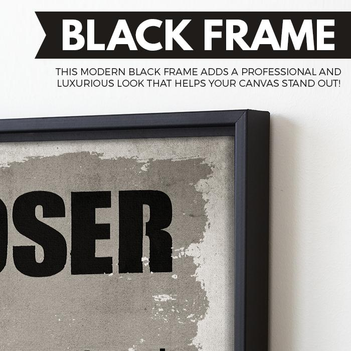 Closer wall art black frame