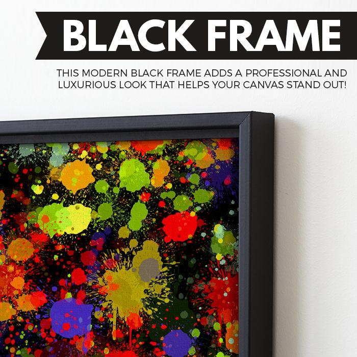 Abstract Nights wall art black frame